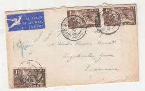 SOUTH AFRICA, 1953 Airmail cover to Jakarta, Indonesia.. 3s.
