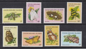 Cocos Islands # 88 / 102, Incomplete set, Insects, NH,
