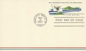 US  UXC6  FDC  Virgin Islands 50th Anniversary of Purchase
