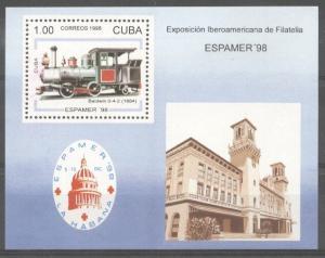Cuba 1996 Trains, perf. sheet, MNH    S.032