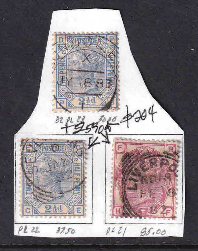 GREAT BRITAIN SC 82-83 COLLECTION LOT $204 SCV ALL PREMIUM CANCELS