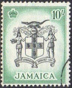 Jamaica 1956 10/- Arms of Jamaica used