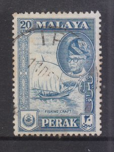 Malaya Perak 1957 Sc 133 20c Used