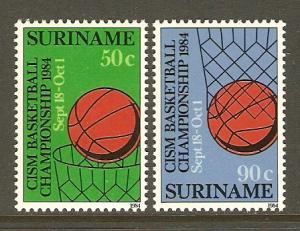 Surinam #687-8 NH Basketball