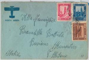 54063 - ITALIA COLONIE: SOMALIA -  BUSTA  con affrancatura TRICOLORE  1936