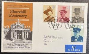 GB #728-731 Used F/VF - First Day Cover - Churchill Centenary 1974 [CVR204]