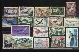 France Airmail airplane plane aircraft MNH stamps helicopter aviator CV Euro 140