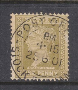 VICTORIA, 1901 1d. Olive, used.