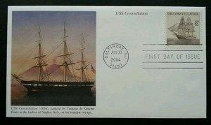 USA Constellation 2004 Sailboat Ship Vehicle Transport Explore (stamp FDC)