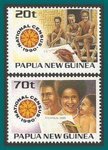 Papua New Guinea 1990 National Census, MNH  733-734,SG615-SG616