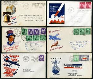US Collection of 50 WWII Stamp Covers