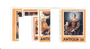 Antigua, 572-77, Paintings, Singles, MNH