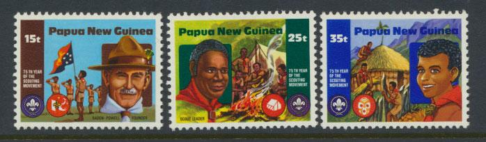 Papua New Guinea SG SG 426 - SG 428 incomplete set  Scouting MUH