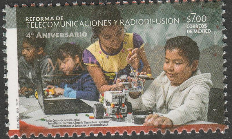 MEXICO 3056, Radio and Telecommunications Reform, 4th Anniv. MNH