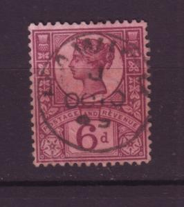 J19732 Jlstamps 1887-92 great britain used #119 queen
