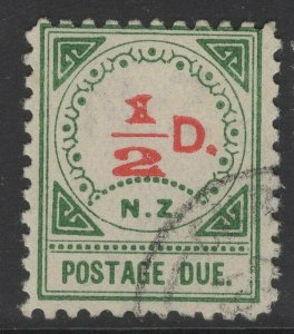 NEW ZEALAND SGD9 1900 ½d VERMILION & GREEN FINE USED