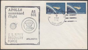 USA 1967 Apollo unmanned flight - recovery cover USS York County............Q101