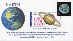 2016, Views of our Planets, Earth, Digital Color Postmark, FDC, 16-223