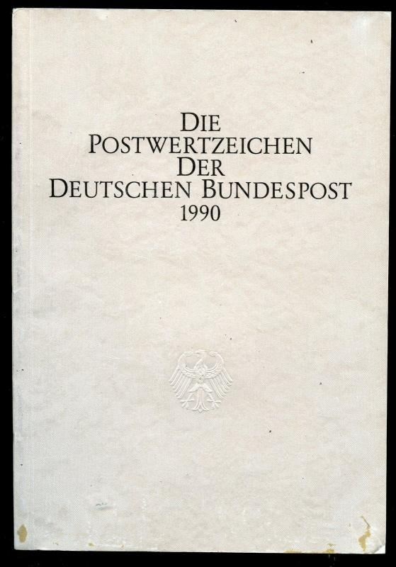 GERMANY & BERLIN OFFICIAL YEAR BOOK 1990 COMPLETE  FACE VALUE IS 71.15 DM  MINT