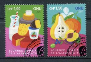 United Nations UN Geneva 2017 CTO World Food Day 2v Set Gastronomy Stamps