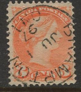 Canada #37 QV Definitive 1873 VFU CV$?