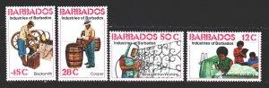 Barbados. 1978. 452-55. Artisans, cooper, profession. MNH.