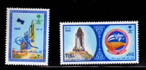 Saudi Arabia Scott 936-937 MNH** Space shuttle set