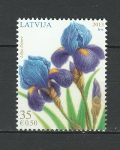 Latvia 2013 Flowers MNH stamp