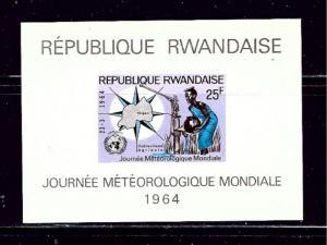 Rwanda 54A MNH 1964 Meteorology S/S