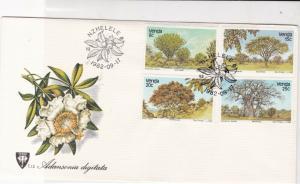 venda 1982 trees & plants  stamps cover ref 20643