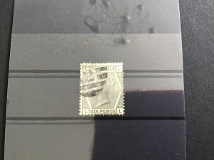 G.B.  SG 146 plate 15 6 pence used stamp  R29659