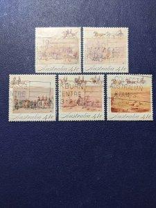 Australia 1181a-1181e VF complete set, CV $2.50