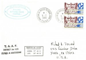 1990 French Southern & Antarctic Territory, Antarctic Cachet and/or Cancel  #110