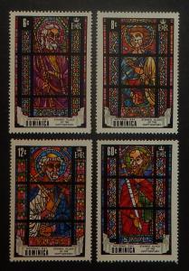 Dominica MNH 264-7 Stain Glass Windows 1969