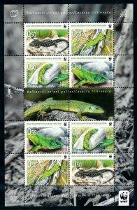 [I1413] Bosnia Herzegovina 2010 Reptils  WWF good sheet very fine MNH