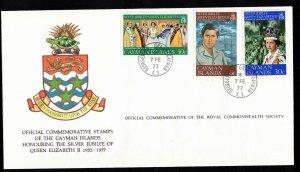 CAYMAN ISLANDS - FDC - 1977 - Silver Jubilee of QEII