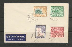 St Kitts Nevis FDC 1954 Plain 1c-4c basselterre cds, Neat & Clean