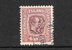 ICELAND 1907 40a  KINGS FU SG 91