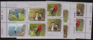 Canada USC #1634a Mint MS Imprint Blocks VF-NH Cat. $20. 1997 Birds