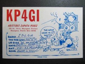 10318 Amateur Radio QSL Card MAYAGUEZ PUERTO RICO