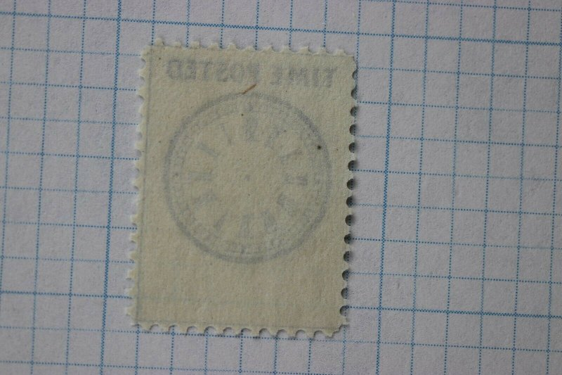 Hussey's Local letter Post Time Posted clock stamp unused