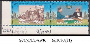 NAURU - 1995 25th ANNIVERSARY OF NAURU PHOSPHATE COORPORATION - 2V MNH