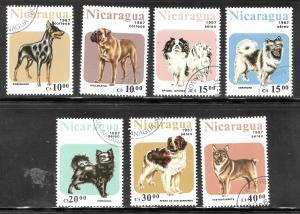 Nicaragua 1987 SC# 1632-1638