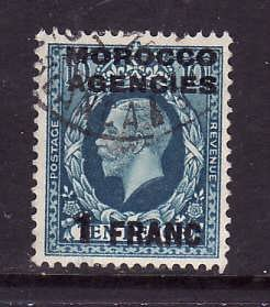 GBOA-Morocco Agencies-Sc#433-used 1fr on 10p Prussian blue-KGV-1935-7-