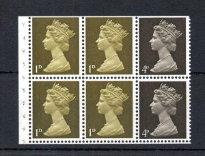 1d/4d MACHIN UNMOUNTED MINT BOOKLET PANE PHOSPHOR OMITTED Cat £35