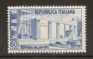 Italy 1952 60L Milan Fair SG811 MNH Cat£90