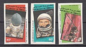 DJIBOUTI SC# C155-C157 SPACE ANNIVERSARIES - MNH - IMPERF