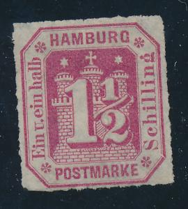 Hamburg (German State) Stamp Scott #25, Mint No Gum - Free U.S. Shipping, Fre...