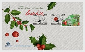 H01 Andorra Spanien 2019 Tree Leaves, Holly  FDC