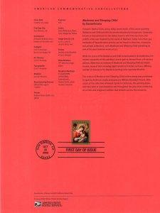 US SP1747 Christmas Madonna 4424 Souvenir Page FDC